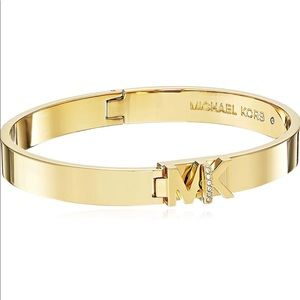 Michael Kors Gold MK Bangle Bracelet